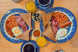 "Traditional ""Full English"" Breakfast at The Melita Hotel SW1, London"