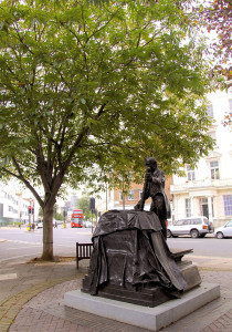 Statue of Thomas Cubitt, Architect of The Melita Hotel, Victoria, SW1, London